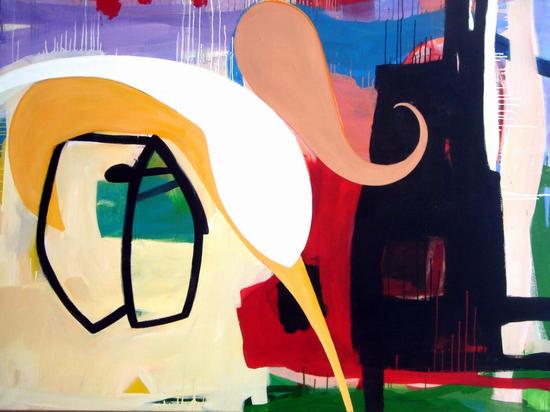HUUR; €50 per maand Renier Vaessen Acryl-150x200cm