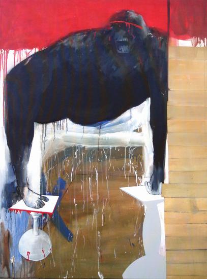 HUUR; €55 per maand Renier Vaessen Acryl-150x100cm