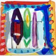HUUR € 6,20 PER MAAND Rob Kars Acryl Drijfhout 54x56x4cm